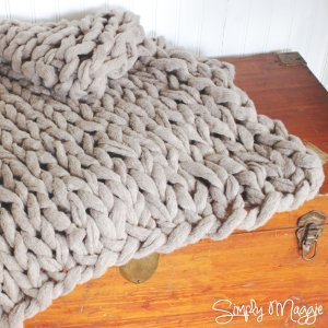 Chunky Arm Knitted Blanket