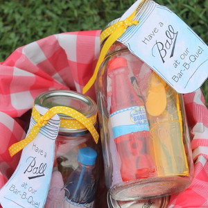 Mason Jar BBQ Party Favors