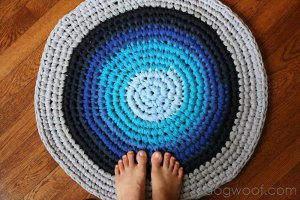 Recycled T-Shirt Crochet Rug