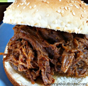 Slow Cooker Shredded BBQ Beef
