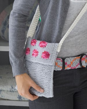 Easy Knit Rose Petal Purse Pattern