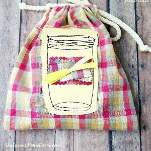 Drawstring Mason Jar Crafts
