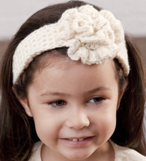 Flower Girl Crochet Headband Pattern