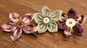 Fun Fabric Flower Hair Clip