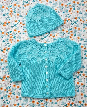 Seed Stitch Baby Set