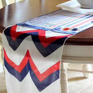 No-Sew Memorial Day Table Runner