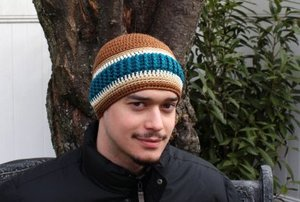 Aurora Borealis Crocheted Hat