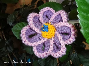 Pink and Purple Crochet Flower Pattern
