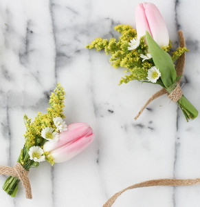 Seriously Sunny DIY Boutonnieres