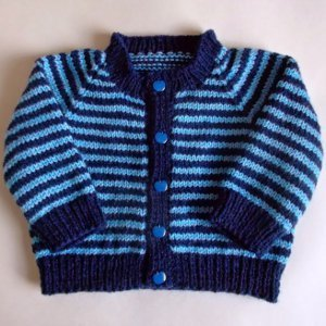 Simple Striped Baby Cardigan