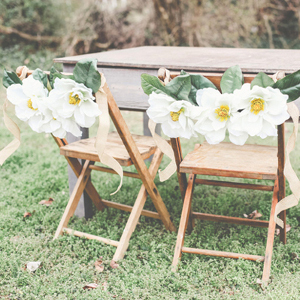 Beautifully Vintage Magnolia Chair Garland