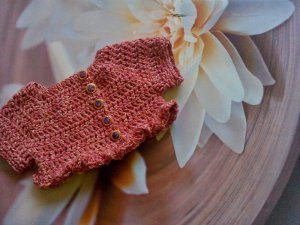 Ruffled Baby Crochet Shrug