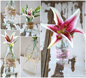 Simply Beautiful Repurposed Flower Vases