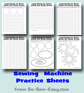 Printable Sewing Machine Practice Sheets