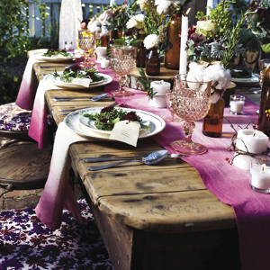 Ombre DIY Wedding Table Linens