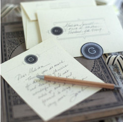 DIY Monogram Cards