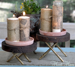 Forever Classic Burlap Candles