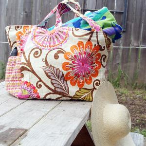 Jumbo Beach Bag | AllFreeSewing.com