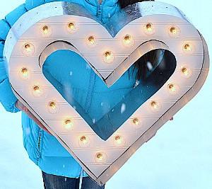 Modern Marquee Heart