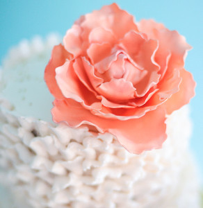 Pretty and Pink Peony Wedding Cake Design