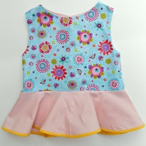 Printable Girls Peplum Top