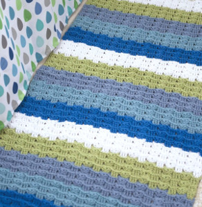 Welcoming Wavy Crochet Rug