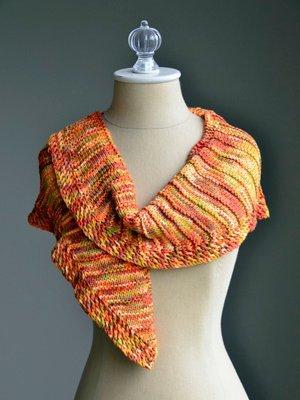 sunset shawlette allfreeknittingcom