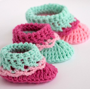 3 Size Baby Booties Crochet Pattern