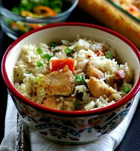 Asian Chicken and Rice Casserole