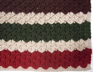 Crocodile Stitch Crochet Afghan