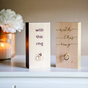 To Have And Hold Wedding Ring Holder