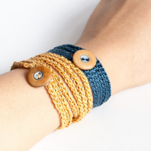 Beach Bum Wrap Crochet Bracelet