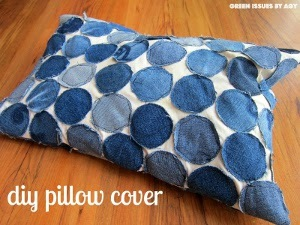 Denim Dots DIY Pillow Cover