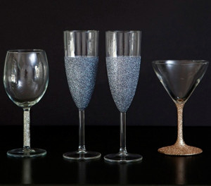 Glitz and Glam Wine Glass Tutorial