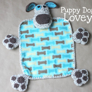 Puppy Dog Crochet Baby Blanket