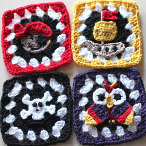 Pirate Granny Squares Crochet Patterns