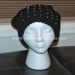 Beaded Slouchy Hat