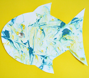 Eye-catching Marbled Fish Art