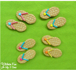 Summertime Sunshine Flip Flop Cookies