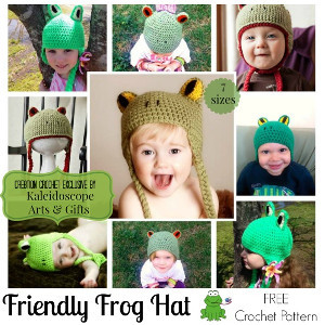 Friendly Frog Crochet Hat