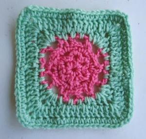 Watermelon Flower Crochet Granny Squares