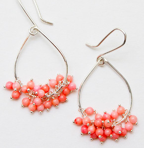 Playful Pink Teardrop Earrings