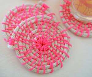 how to make nautical rope coasters