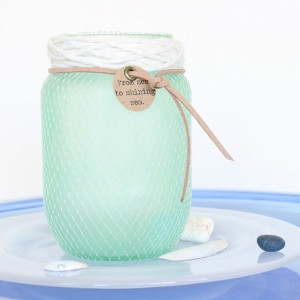 Simple Seafoam Mason Jars