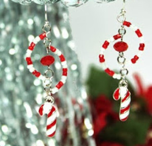 Charming Candy Cane Earrings