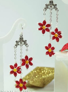 Truly Pretty Poinsettia Earrings