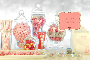 Marvelous Monochromatic Candy Table Ideas | AllFreeDIYWeddings.com
