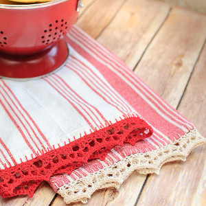 Time for Tea Towels Crochet Edging