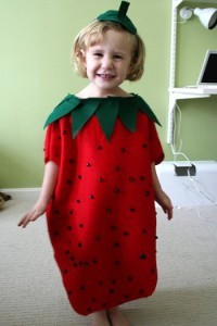 Sweet and Simple Strawberry Halloween Costume