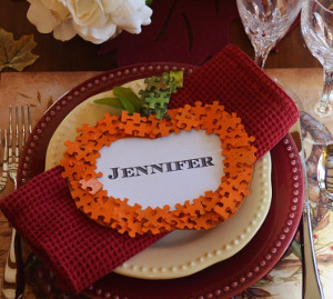 Actually the Prettiest Pumpkin Place Cards
